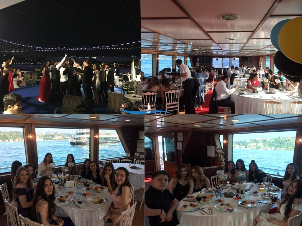 teknede mezuniyet partisi